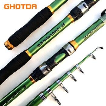 GHOTDA Fishing Rod Hard FRP Telescopic