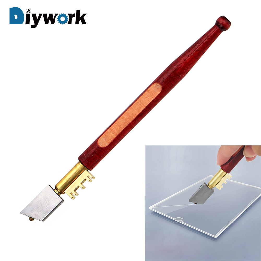 DIYWORK 17mm Portable Glass Diamond Cutting Tool Diamond Tipped Glass Cutter Pencil Window Craft Cutting Hand Knife Tool
