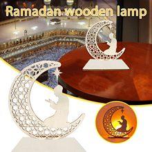 Nieuwe Ramadan Decoraties Ramadan Diy Moslim Ledeid Mubarak Geschenken Pasen Decoratie Voor Eid Al Fitr Houten Decoratie Eid Mubarak