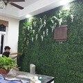 4 pces 40x60cm grama artificial relvado plantas plástico tapete sod jardim decoração casa ornamentos parede