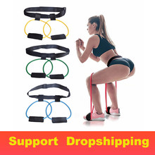 Fitness Women Booty Bands Set Resistance Bands for Butt Legs Muscle Training Adjust Waist Belt Elastic Bands Pedal Exerciser(China)