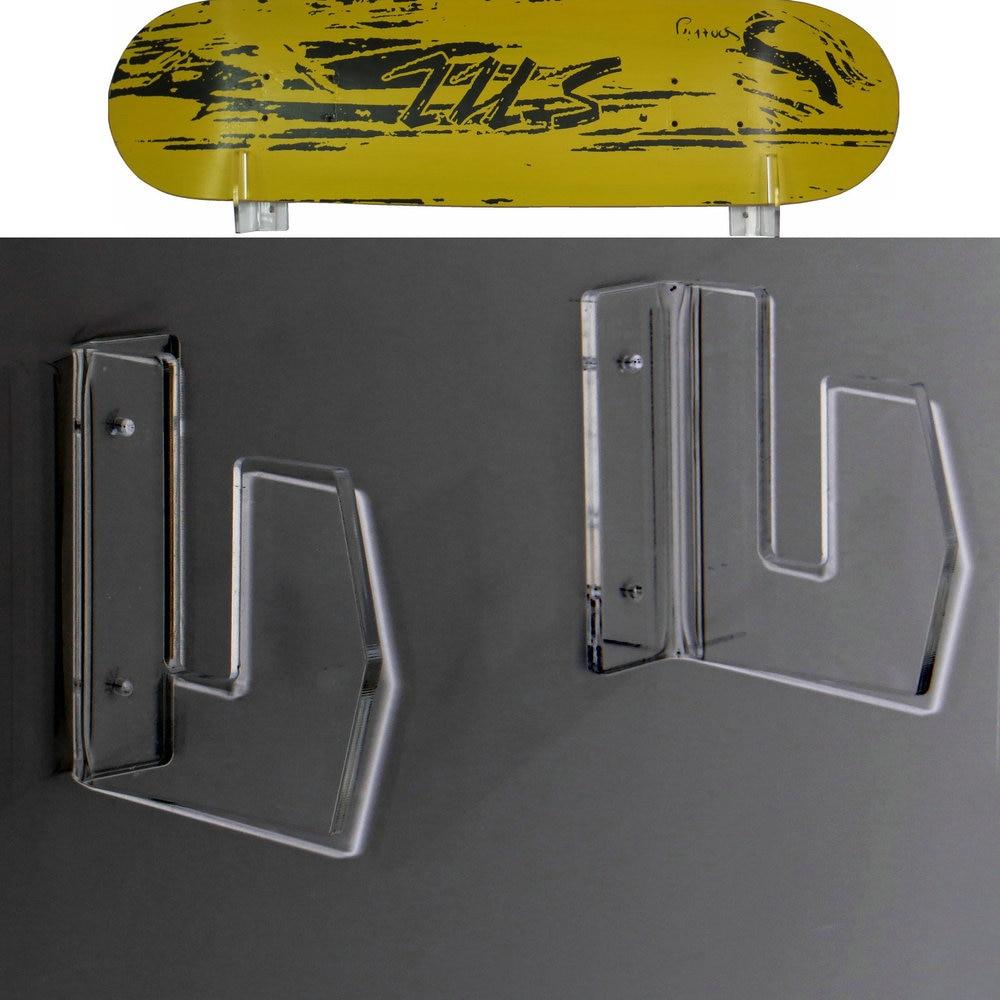 Skateboard Wall Rack Storage Display Wall Mount Clear-Acrylic Wall Hanger New