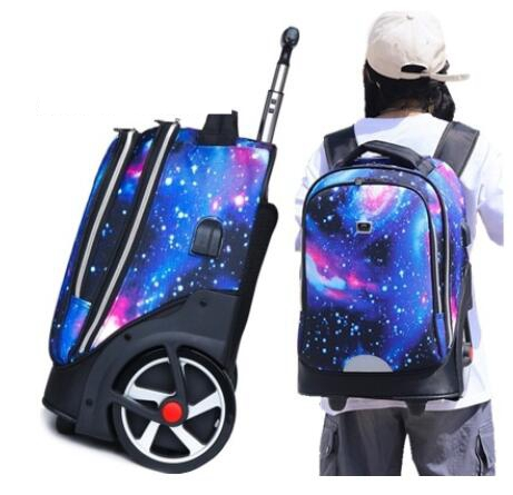 Travel Trolley Backpacks Bags For Teenagers  School Wheeled Backpack For Girls Backpack On Wheels Children Rolling Luggage Bags