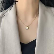Collares de cuentas anenjary simples de Plata de Ley 925 con suerte para mujer, gargantilla de cadena corta, collares S-N554