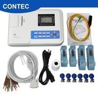 CONTEC FDA CE ECG100G одноканальный электрокардиограф EKG аппарат для электрокардиографии с бумагой для принтера, программным обеспечением для ПК