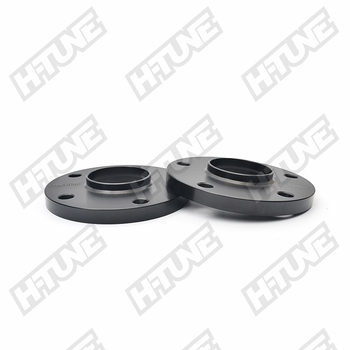 H-TUNE A Pair Forged Aluminum Black 15mm 5x130 71.6CB Hub Centric Wheel Spacers Adapters 14*1.5 Studs
