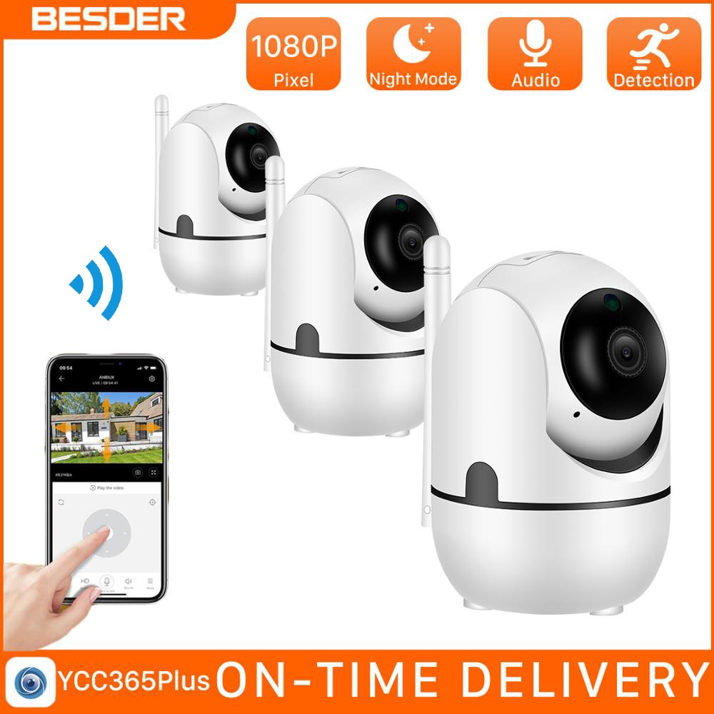 Besder hd 1080p nuvem câmera ip sem fio inteligente de rastreamento automático humanóide vigilância segurança em casa cctv rede wi fi câmera