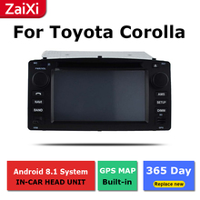 2 Din Android radio bluetooth GPS Navigation wifi Stereo video For Toyota Corolla 2004~2007 Car Multimedia Player