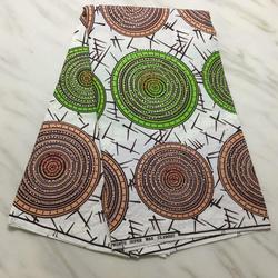 Woskowana Ankara kamienie tkaniny poliester tkaniny woskowe Kwaliteit wosk nadrukowane tkaniny haftowane z dżetów 5 metrów do sukni ślubnej