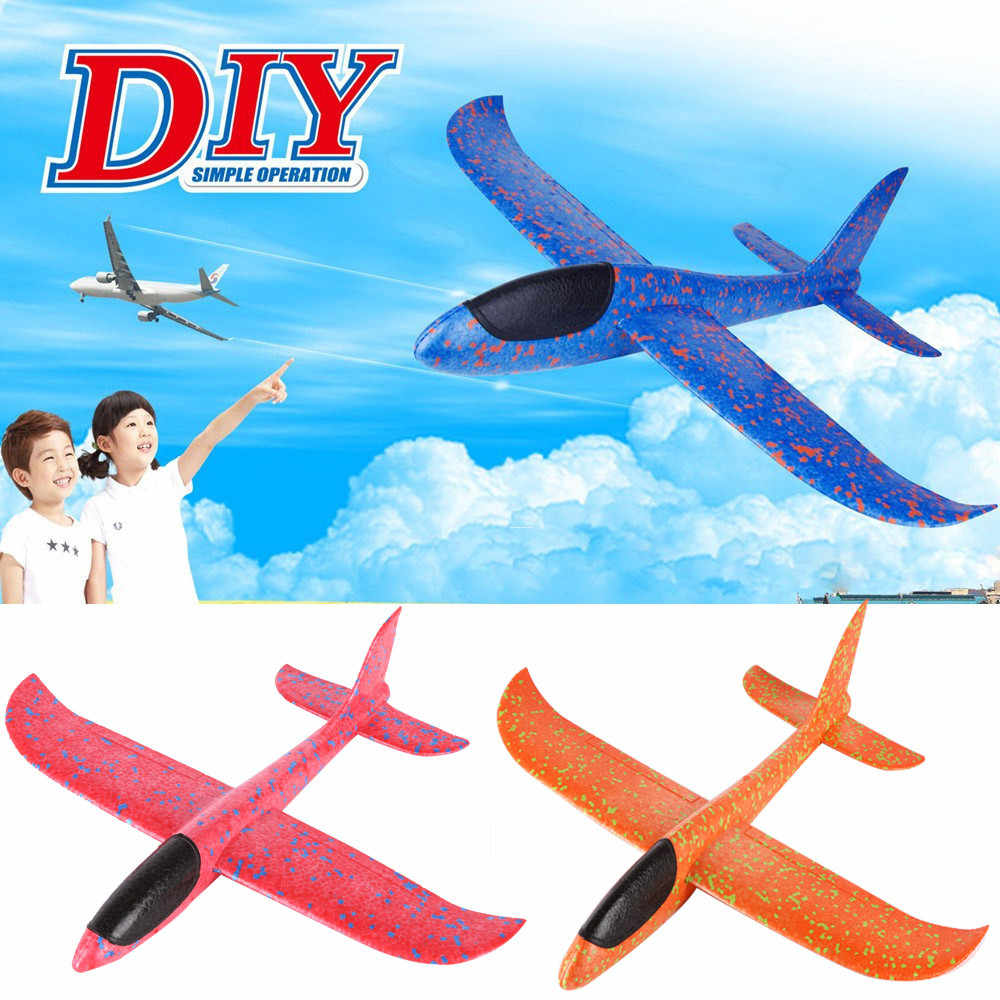 Foam Throwing Glider Airplane Inertia Aircraft Toy Hand Launch Airplane Model DIY Hand Throw Flying Glider Planes Children Toys