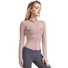 Women Fitness Jacket Long Sleeve Sport Tops Gym Tight Yoga ShirtsWomen Workout Shirts for Sports