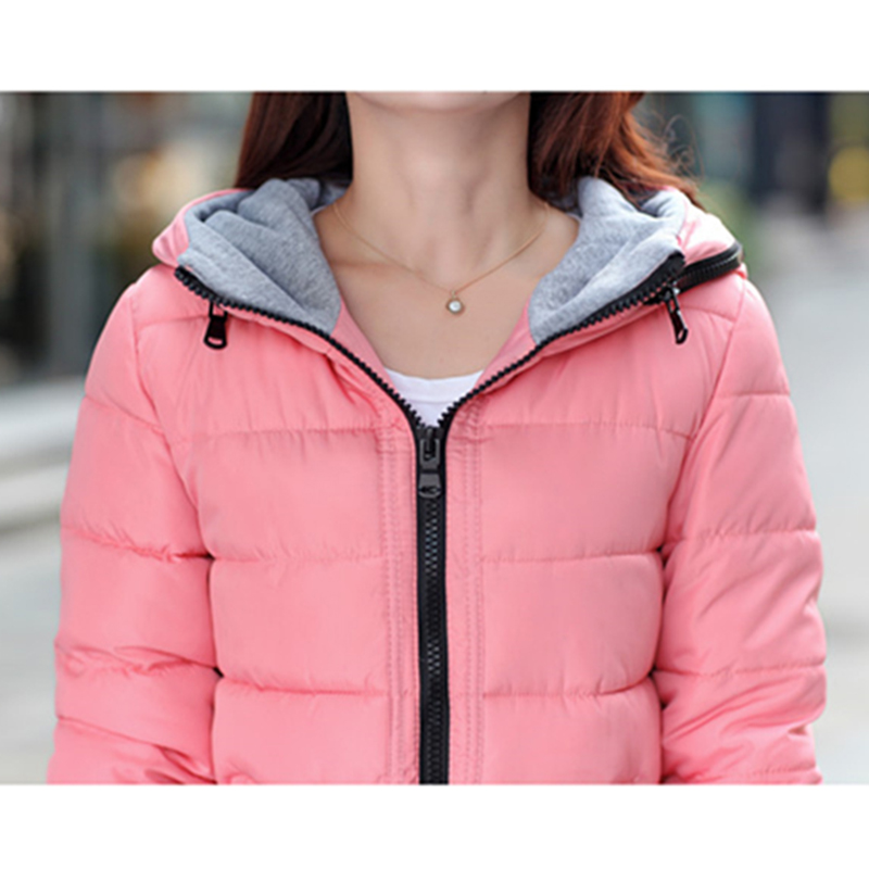 2018 Winter Jacket Women Plus Size Womens Jackets And Coats Female Cotton Padded Long Parka Korean Hooded Chaqueta Muje[]// 6
