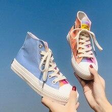 Sneakers Women Ulzzang Heart Canvas Shoes Women's