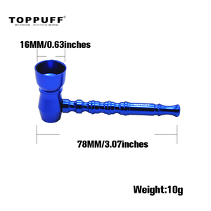 Image 2 - Toppuff tubo de fumo de alumínio de metal tubos de fumo de tabaco portátil