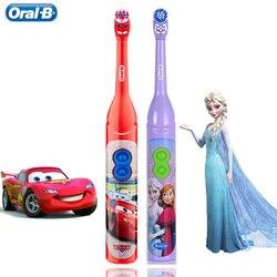 Escova de dentes elétrica das crianças oral b para a higiene oral dos dentes das crianças com vibrador da rotação de 7200 vezes disney cartoon imagens oral-b