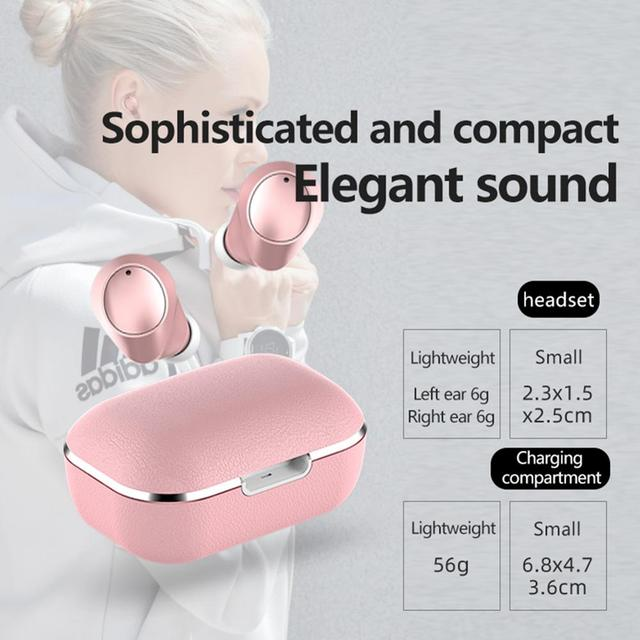HIFI intelligent noise reduction Bluetooth 5.0 wireless headset stereo noise reduction in-ear earphone charging compartment