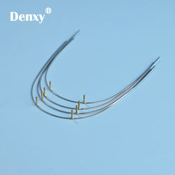 Denxy 10pcs dental Orthodontic Stainless Posted wire SS posted wire Dental ortho wires Orthodontic Bracket