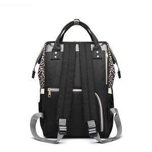 Image 2 - Leopard Diaper Bag Waterproof Maternity Bag Nappy Bags Large Capacity Baby Backpack Bag Travel Mummy Bag Nursing Bag