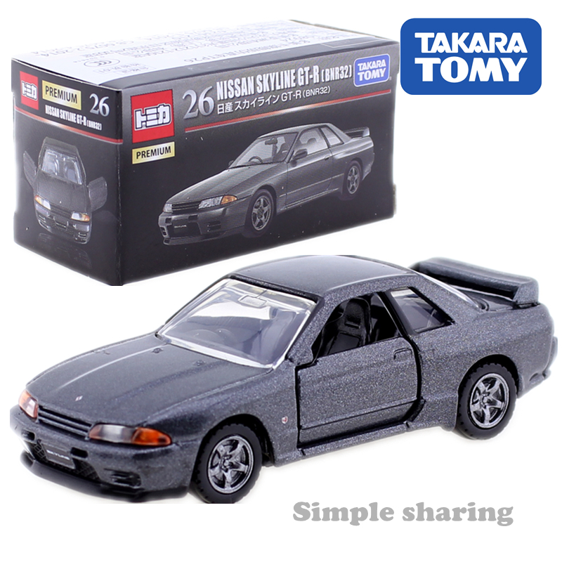 TOMICA PREMIUM NO. 26 NISSAN SKYLINE GT-R BNR32 1:62 TAKARA TOMY AUTO Sports Car Motors Vehicle Diecast Metal Model New Toys