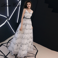 Robe De Soiree A Line Formal Party Gowns Elegant Vestido Festa Long Evening Dress 2019