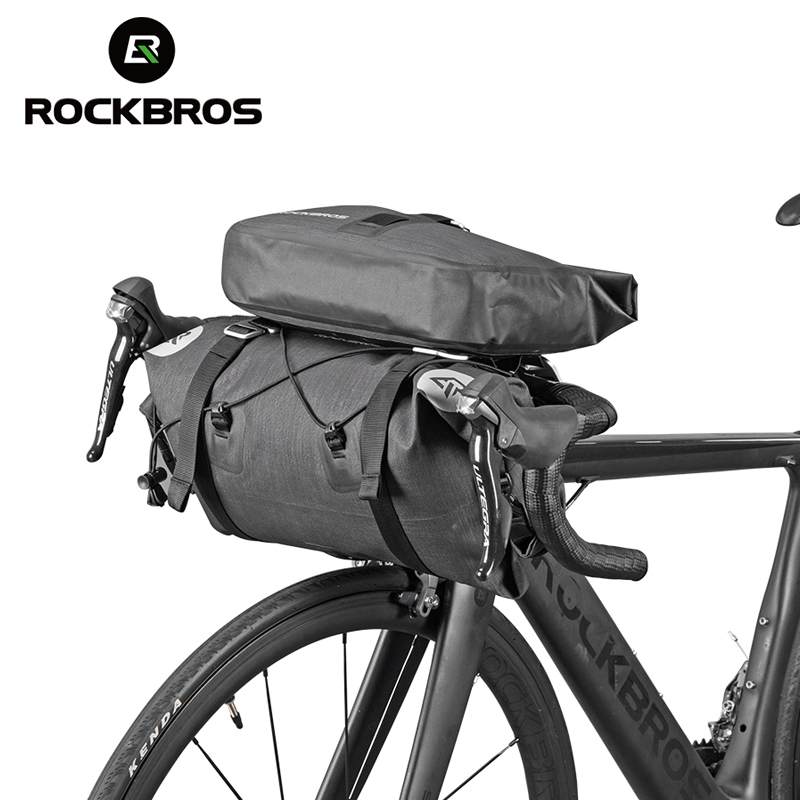 ROCKBROS Waterproof Bicycle Front Big Capacity Tube Bags  MTB Cycling Handlebar Bags Front Frame Trunk Pannier Bike Accessories