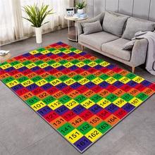 Educational floor mats kids 3D Print Carpet Hallway Doormat Anti-Slip Bathroom Carpets Kids Room Absorb Water Kitchen rug 012 doormat carpets chicken print mats floor kitchen bathroom rugs