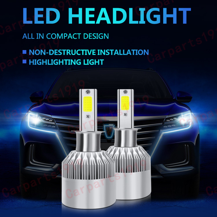 1pcs 6000K Car Headlight H4 9006 9005 H1 H7 H11 Car LED Headlight Bulb Kit COB Bulb White High Power  Car Modification Headlight