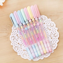 6 Color Change Pen Paper Fluorescent Paint Pens Pencils Writing Markers Highlighters Highlighter Pens Kids Painting Gift 0.8mm