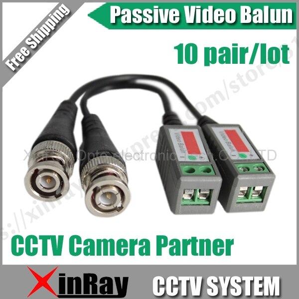 High Quality 20pcs/lot Coax CAT5 Camera CCTV BNC Video Balun Transceiver B202 Camera Partner Free Shipping .
