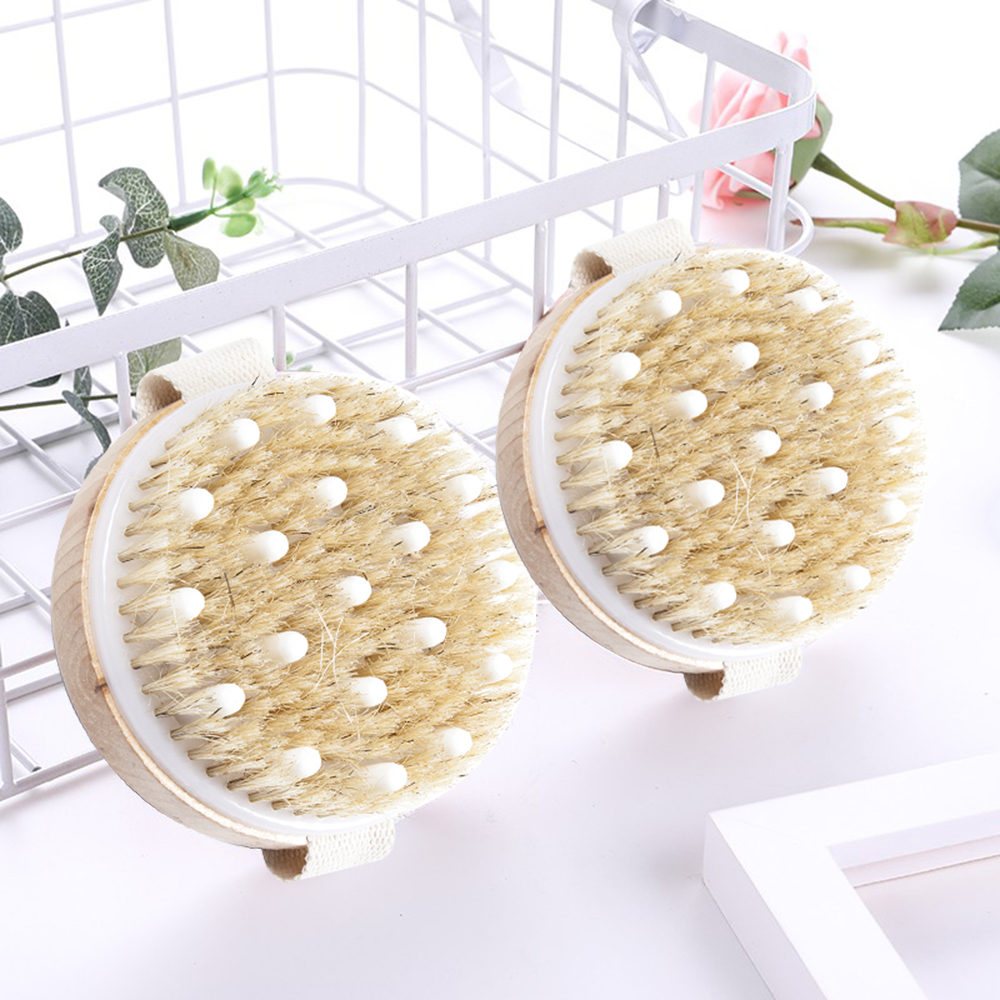 Body Brush Natural Soft Bristle Organic Skin Body Cleaning Tool Wooden Bath Brushes Exfoliating Bathing Brush