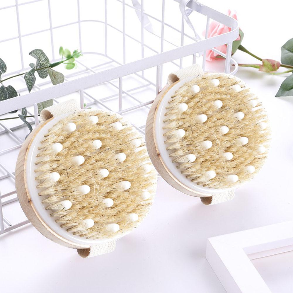 Body Brush Natural Soft Bristle Organic Skin Body Cleaning Tool Wooden Bath Brushes Exfoliating Bathing Brush