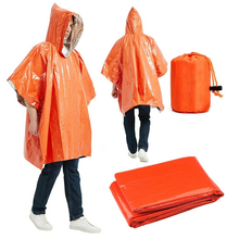 Blankets Survival-Tool Camping-Equipment Emergency Poncho Cold-Insulation Raincoat Orange
