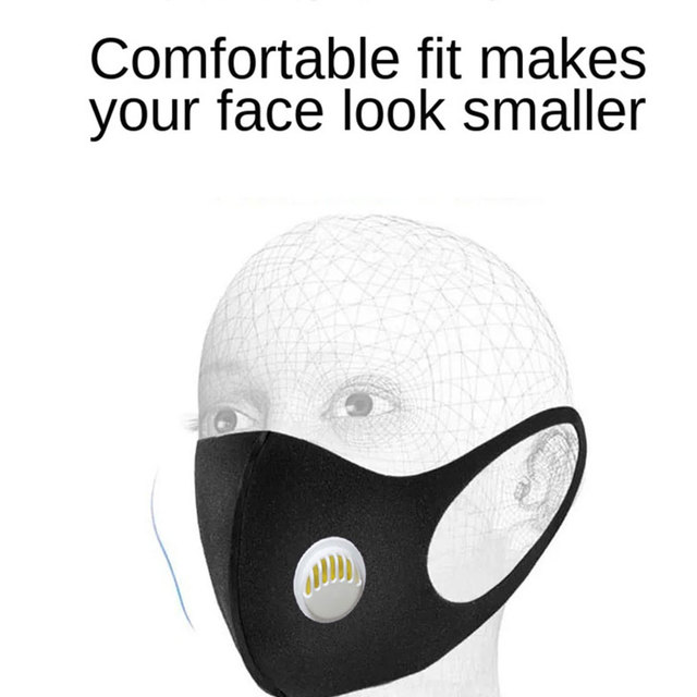 PM2.5 Washable Mouth Mask Anti Haze Dust Mask Nose Filter Windproof Face Anti Bacteria Flu Ice Silk Cotton Respirator 5