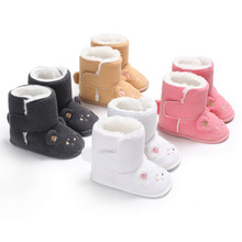 Baby Shoes Bootie Newborn Toddler Winter for Knitted Keep-Warm Wool Infant First-Walkers