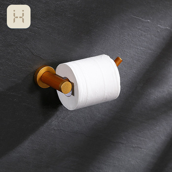 Porte Rouleau Papier Toilette en Bois