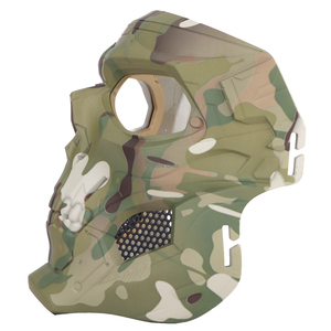 Image 4 - Multicam Tactical Airsoft Skull Mask Paintball Military Combat Full Face Paintball Masks CS Game Face Protective Tactical Mask