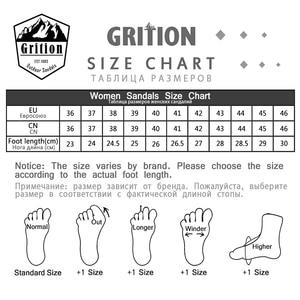 Image 5 - GRITION Women Sandals Flat Casual Outdoor Toecap Protective Trekking Non slip Shoes Comfort Wear risistant Fashion Beach Sandals