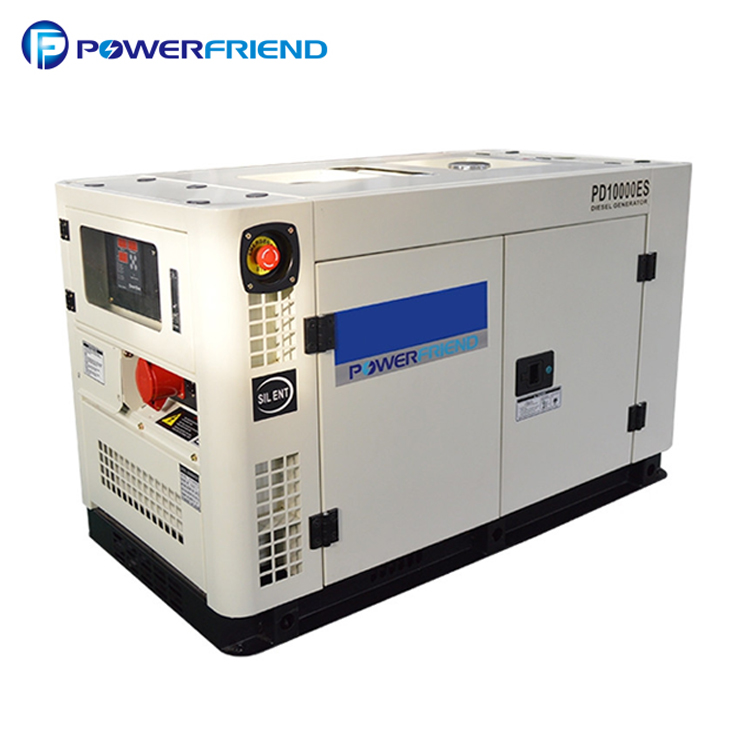 10 Kva 8 Kw Ac 3 Phase Small Silent Type Diesel Electric Generator