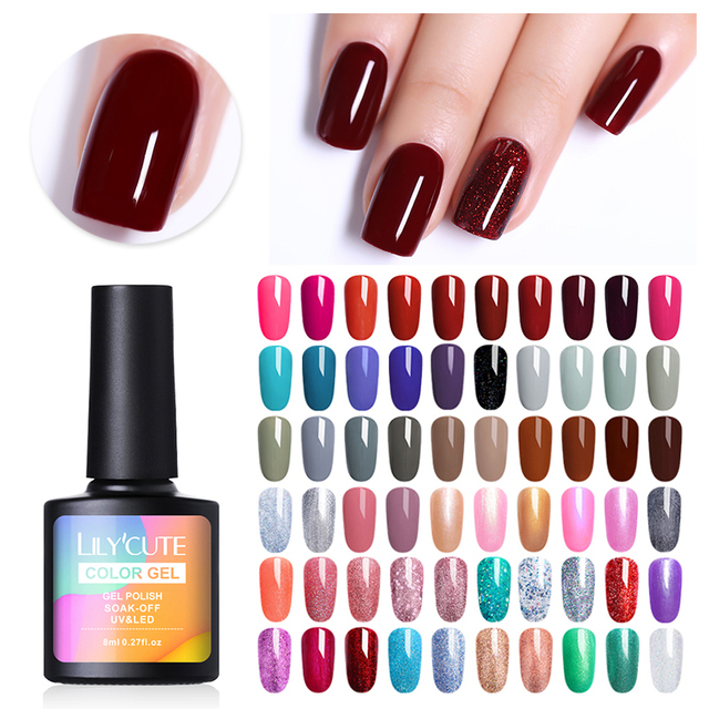 LILYCUTE 8ml Glitter Nail Gel Polish