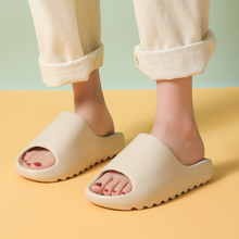 Summer Women Heel Slippers Fashion Thick Serrated Sole Non-Slip Vacation Ladies Sandals Slides Indoor Lovers Platform Shoes