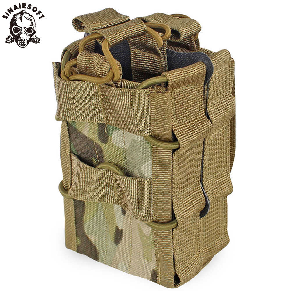 Molle Systeem Magazine Pouch 1000D Nylon Dubbele Laag Opbergzakken Airsoft Tactical Ak Ar M4 AR15 Rifle Pistol Mag Carrier case