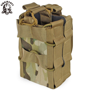 Molle System Magazine Pouch 1000D Nylon Double Layer Storage Bags Airsoft Tactical AK AR M4 AR15 Rifle Pistol Mag Carrier Case