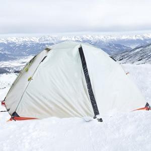Image 2 - Hewolf 1595 야외 더블 레이어 초경량 알루미늄 극 방수 방풍 캠핑 텐트 2.51KG 비치 텐트 Barraca
