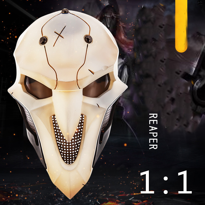 Overwatch OW Reaper Gabriel Reyes Cosplay Props Full-Face Mask Headgear Helmet Masquerade Halloween Accessory 3