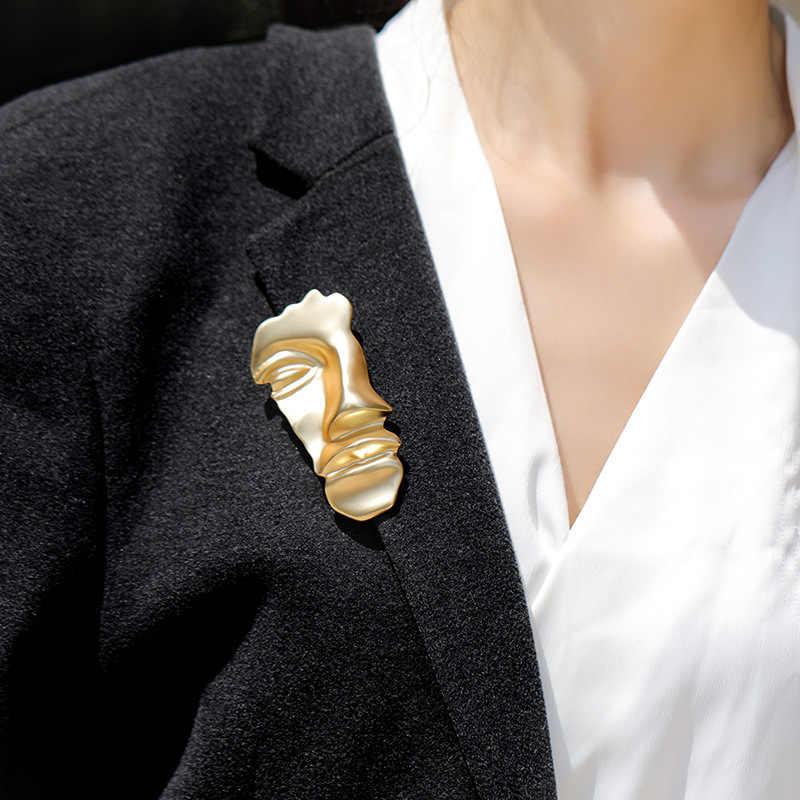 AOMU Vintage Spille In Metallo Imitazione Della Perla di Bowknot Egitto Ritratto di Colore Dell'oro Spilla Spilli per Le Donne Gioelleria raffinata e alla moda Accessori