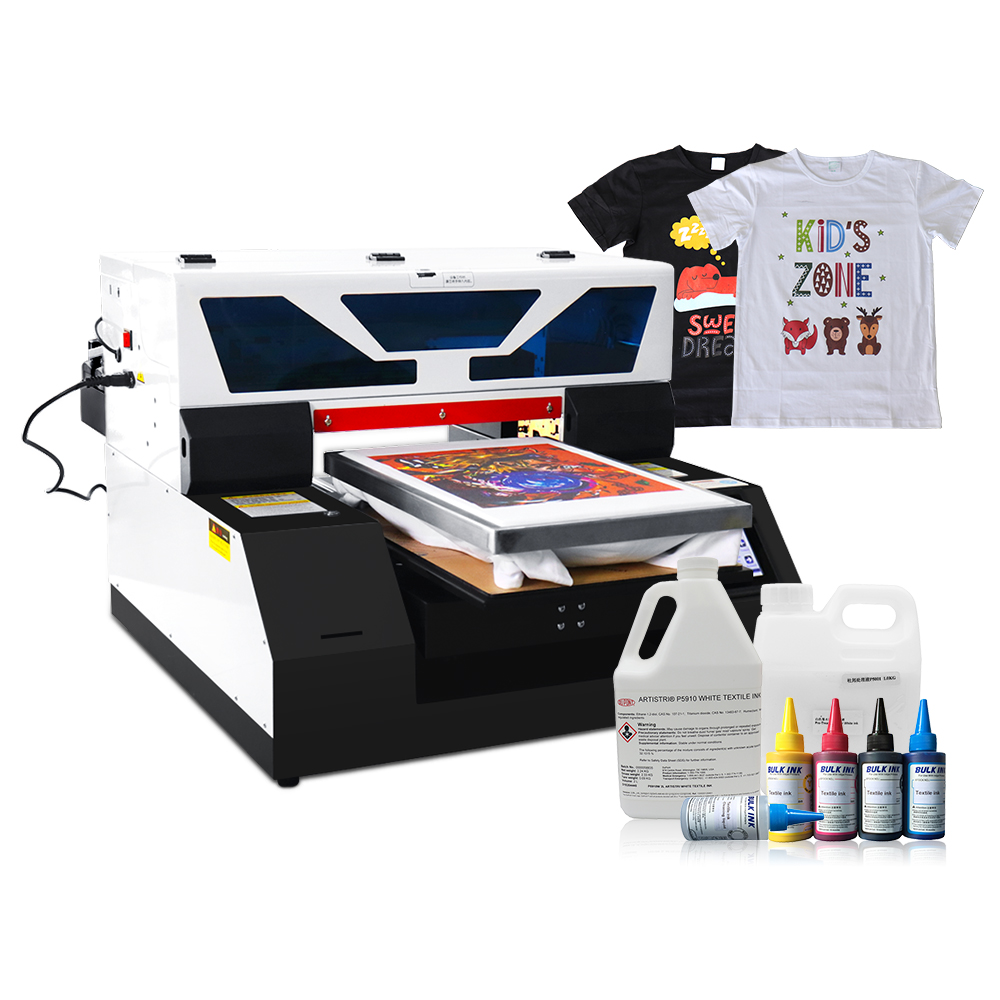 Full Automatic A3 Size DTG Printer Flatbed Printer T shirt Printers For Textile With Touch Screen With White Ink Circulation|Printers| |  - title=