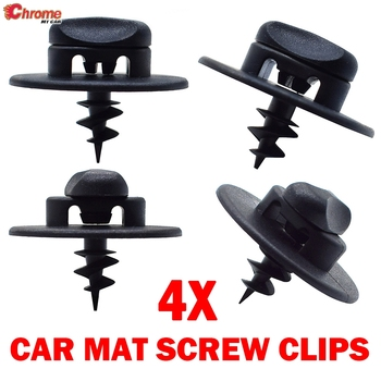4X Oval Hole Ring Screw Buckle Clamp Toggle Grip Floor Mat Clips Carpet Fixing Grip Turn Twist Lock For VW Audi Skoda Seat Cars image