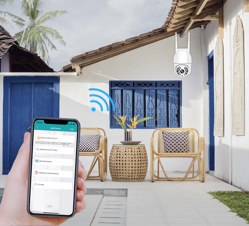 Smar 1080P Outdoor PTZ Wireless IP Camera 4X Digital Zoom Speed Dome Mini WiFi Security CCTV Audio Camera Auto tracking of Human (9)