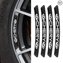 4 pçs do carro de fibra carbono cubo da roda adesivo bens automotivos para chery tiggo 7 pro 8 4 5 3 2 t11 5x amuleto fora qq iq fulwin arrizo