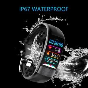 Image 5 - P11 ECG + PPG سوار ذكي جهاز تتبع معدل ضربات القلب لأغراض اللياقة البدنية ساعات ضغط الدم بلوتوث مقاوم للماء أجهزة يمكن ارتداؤها